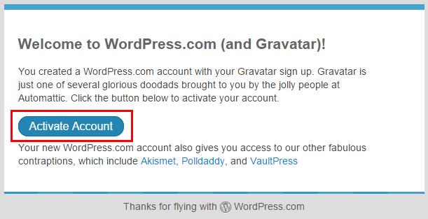 メールActivate Account