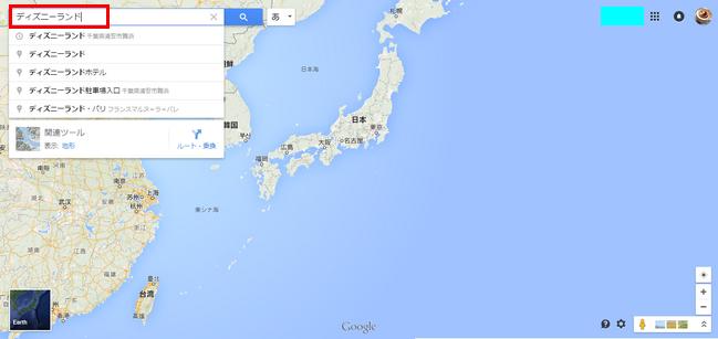 Google Map検索 - ディズニーランド