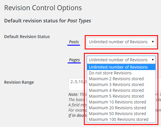 Revision Control - Default Revision Statusの設定