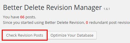 Check Revision Postsボタン
